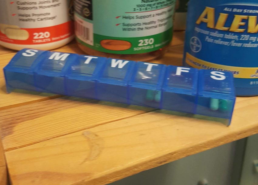 I use a sevne da pill caddy to take my Prozac